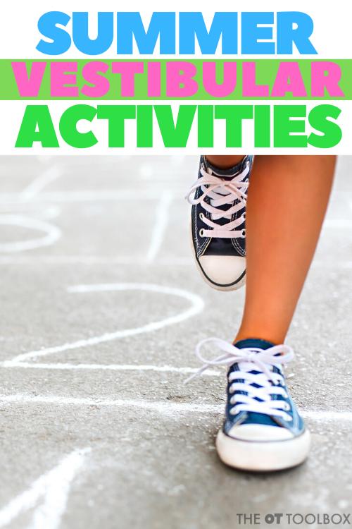 Summer vestibular activities for kids
