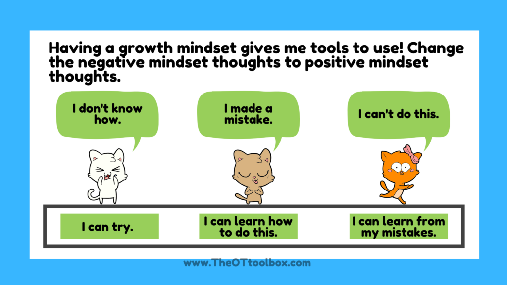Self awareness activities include a growth mindset