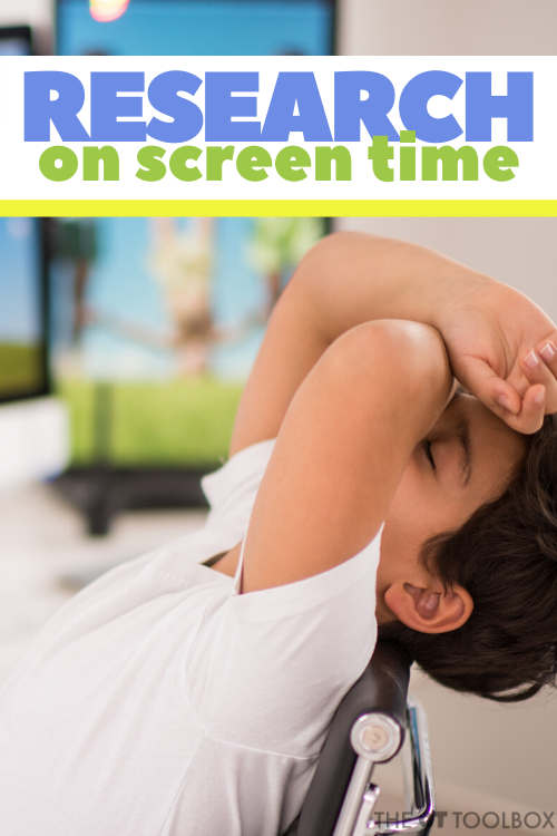 Research on screen time in kids