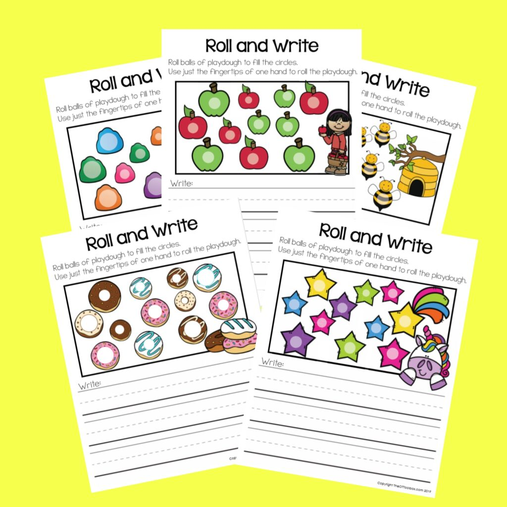 Play Dough Writing mats