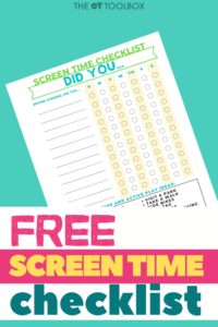 free screen time checklist