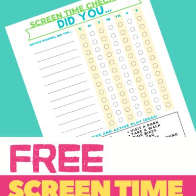 Screen Time Checklist