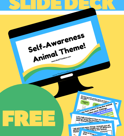 Use this free self awareness activity slide deck in occupational therapy teletherapy