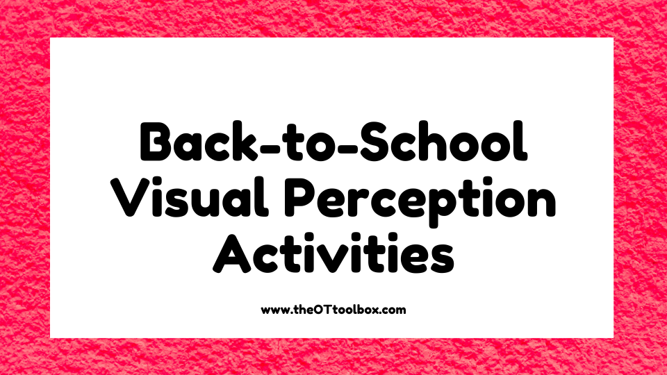 Grab this free interactive back to school slide deck activity to work on visual perceptual skills with kids.