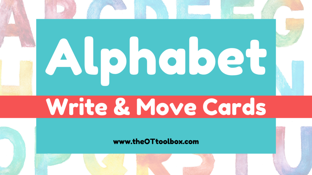 Alphabet interactive slide deck to use in occupational therapy teletherapy sessions or to teach letters.