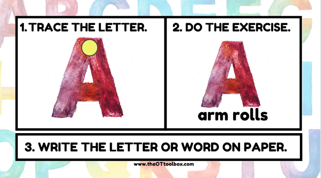 Teach letters with an interactive slide deck.