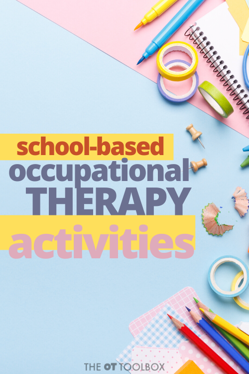 Use these school occupational therapy suggestions to address social distancing, small groups, and changes to school OT this year.