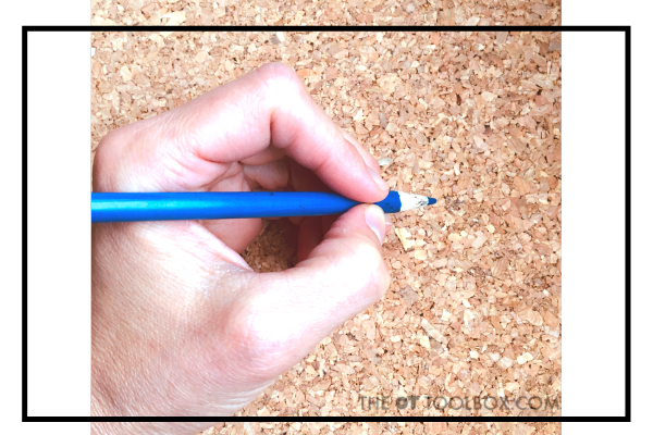 Static tripod pencil grasp is a mature pencil grasp pattern