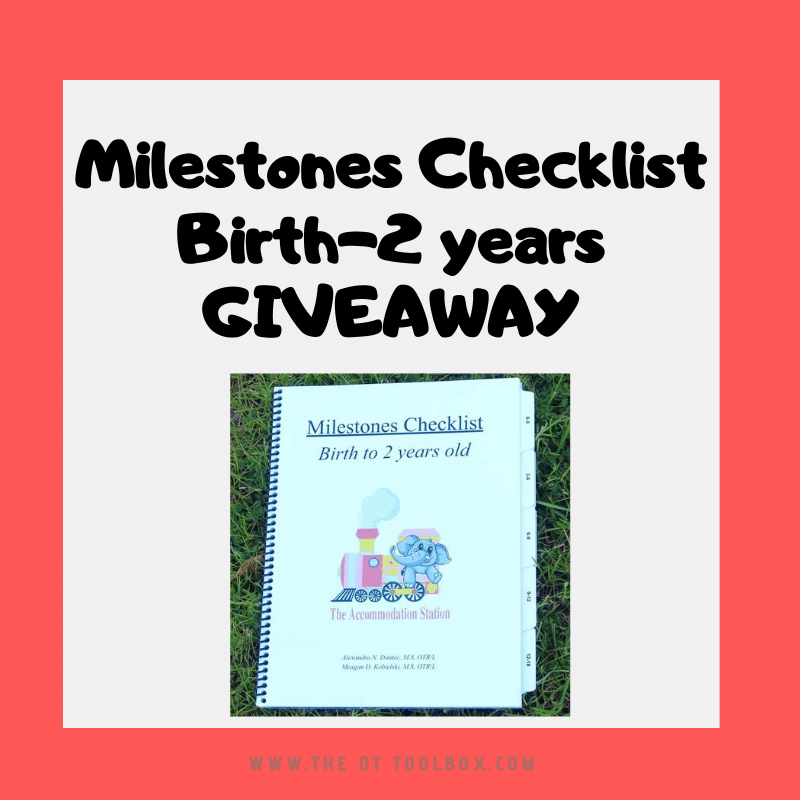 Developmental milestones checklist giveaway