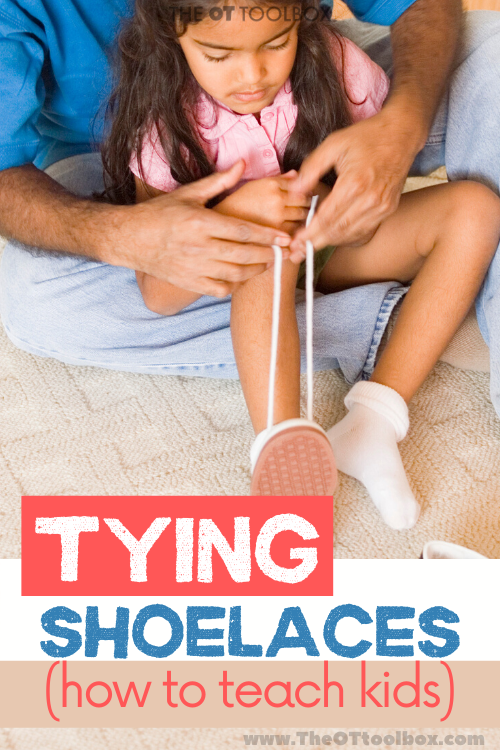 Tying shoelaces resources for kids
