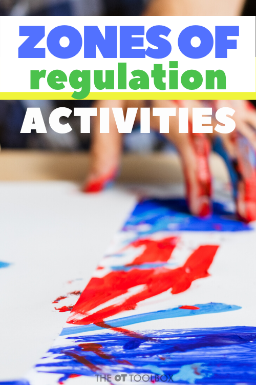 Zones of regulation activities are tools for helping kids regulate emotions and behaviors through coping tools and sensory activities.