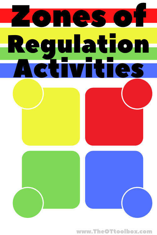 Use zones of regulation activities to help kids identify and regulate emotions and behaviors.