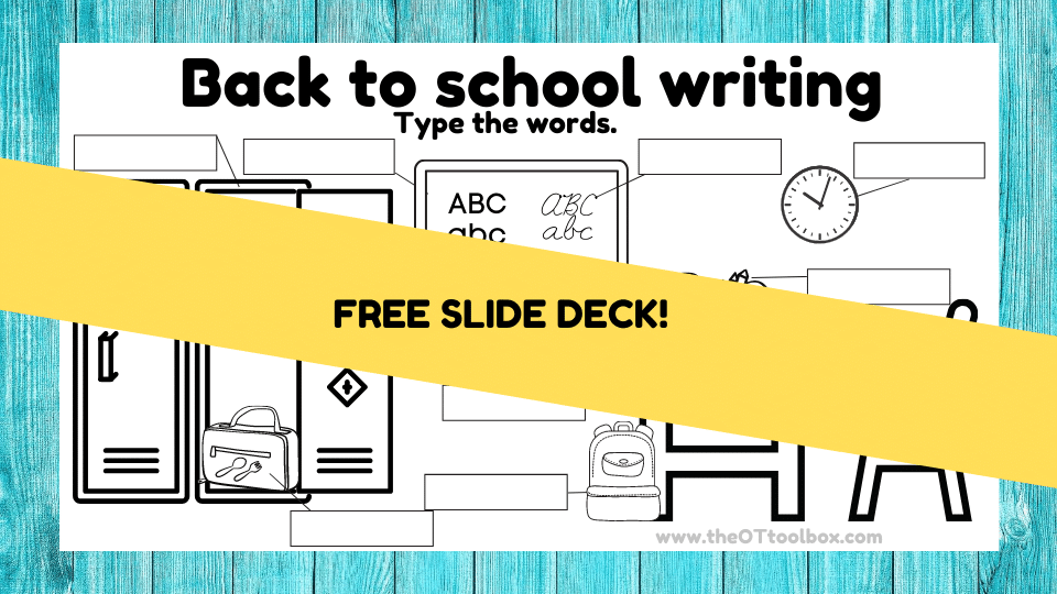 Back to school writing activity for students