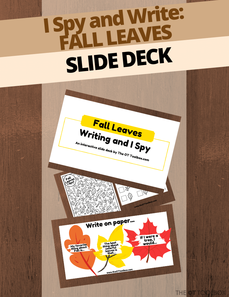 Free slide deck with a Fall leaves theme!