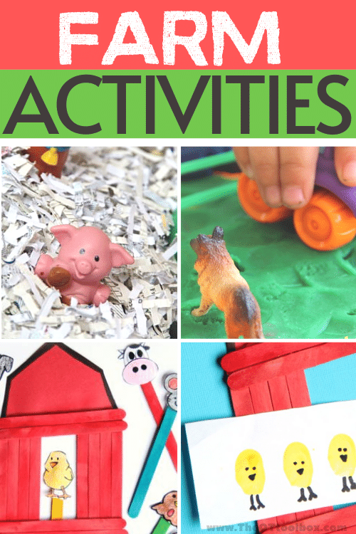 Farm activities for occupational therapy activities with kids