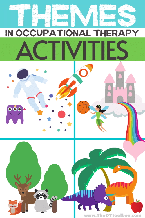 Weekly themes for planning occupational therapy activities with kids.