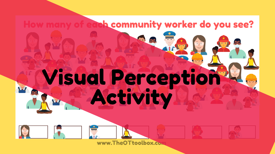 A fun visual perception activity with a community helper theme.
