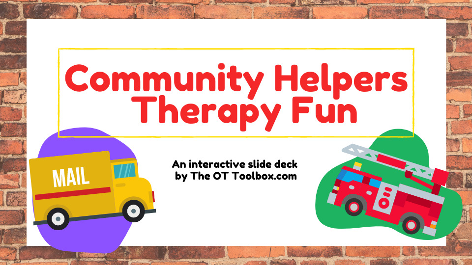 Community helpers activity for occupational therapy.
