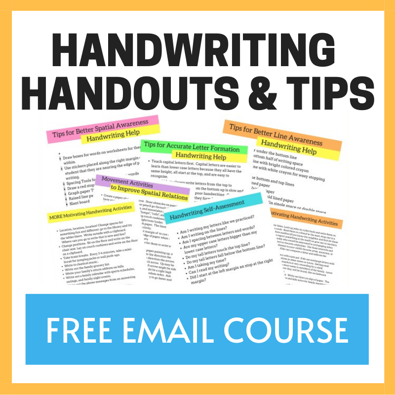 free course on handwriting for occupational therapists