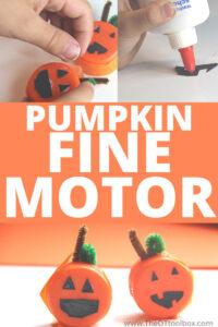 pumpkin craft that builds fine motor skills.