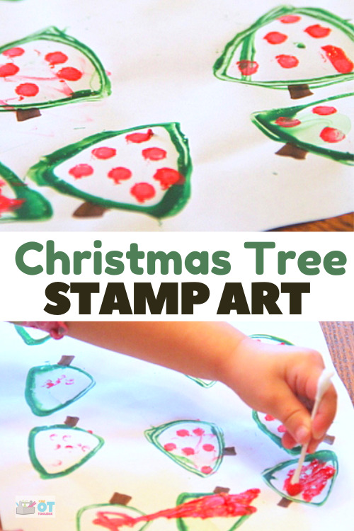 Tag craft for Christmas is a personalized bag tag that kids can make as a gift tag craft.
