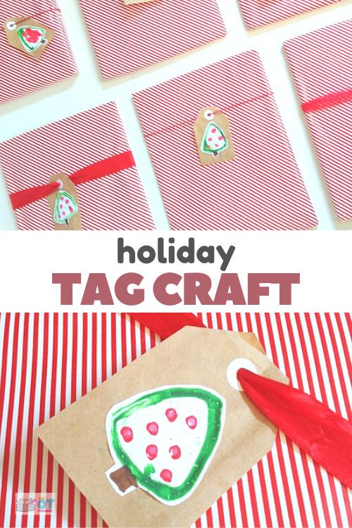 Christmas tree gift tags craft for kids