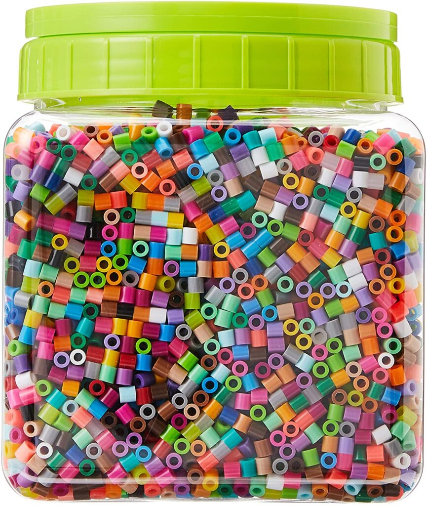 Perler beads are a great fine motor toy for kids.
