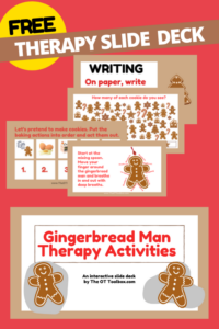 Gingerbread man virtual activities