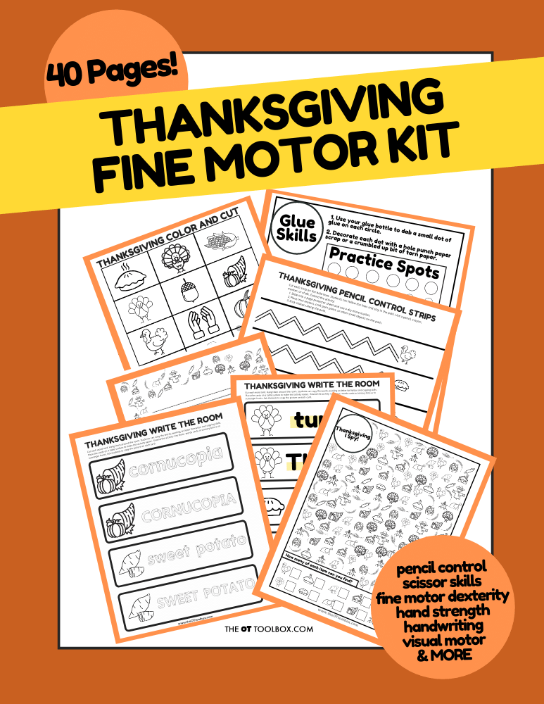 Thanksgiving Fine Motor Kit
