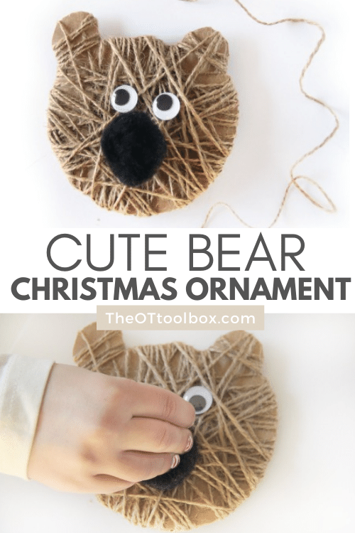 Such a cute bear ornament for Christmas.