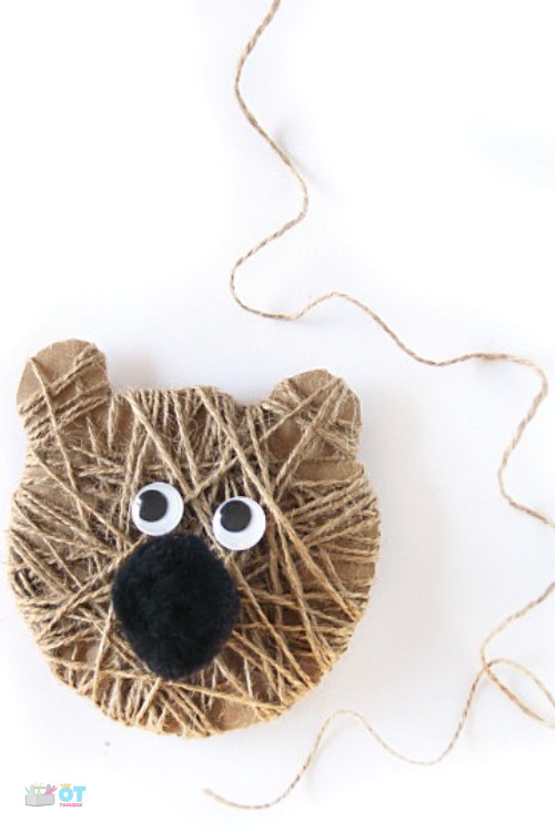 Kids can make this bear craft based on the book, Bear stays up for Winter, or any bear book for kids.