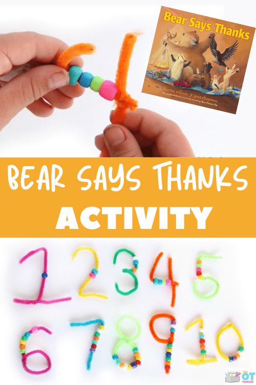This Bear Says Thanks activity is perfect for Thanksgiving activities that foster gratitude in kids.