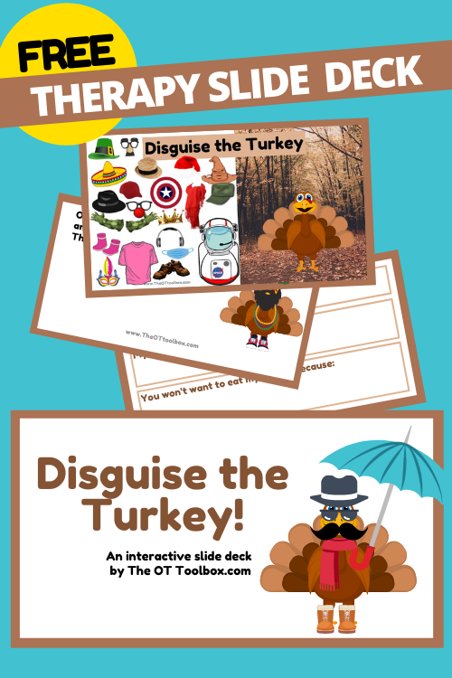 Disguise the turkey with this free interactive slide deck for Thanksgiving.