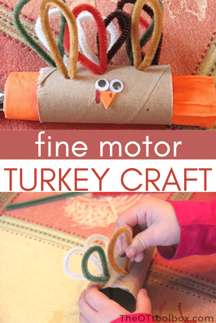 Turkey napkin ring that kids can make! This Thanksgiving table craft is so much fun for the kids table!