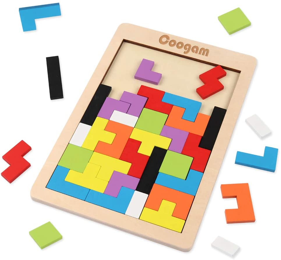 Children can develop precision and dexterity with this tangram activity.