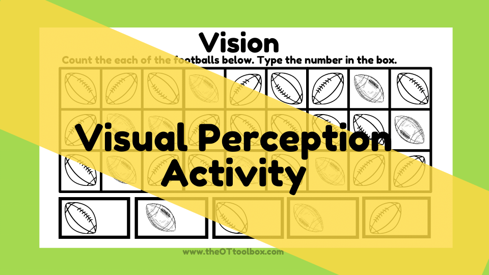Football theme slide deck to work on visual perception with kids.