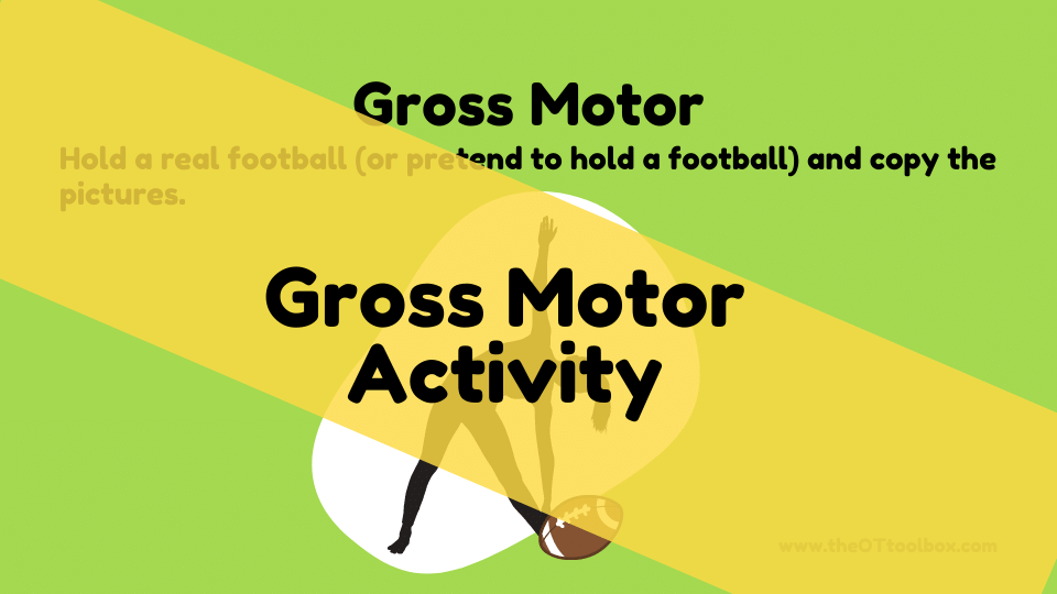Football theme gross motor activities for kids