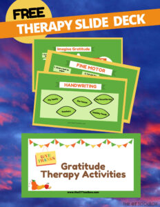 teaching gratitude free occupational therapy slide deck