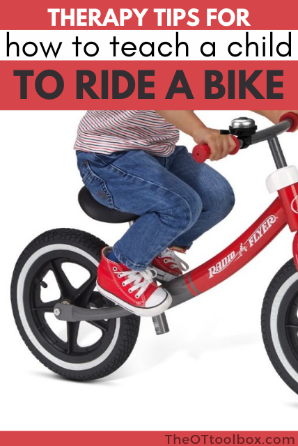 How to teach kids to write a bike using a balance bike.