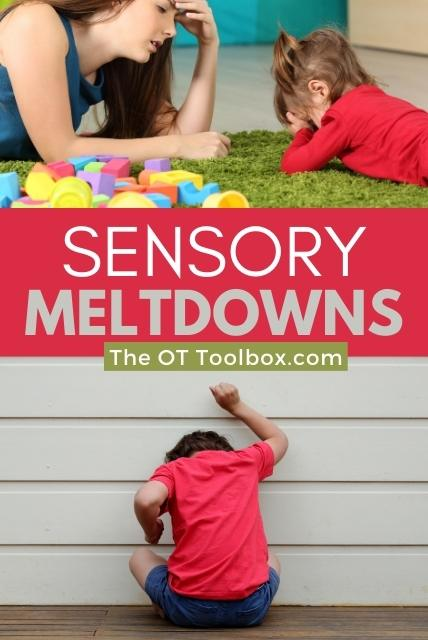 Sensory meltdowns, information on self-regulation and sensory processing, as well as questions that parents have about meltdowns.