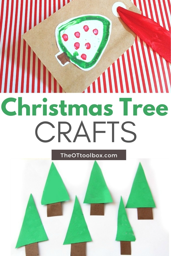 Christmas tree activities for kids including fine motor Christmas tree crafts, and Christmas tree sensory activities.