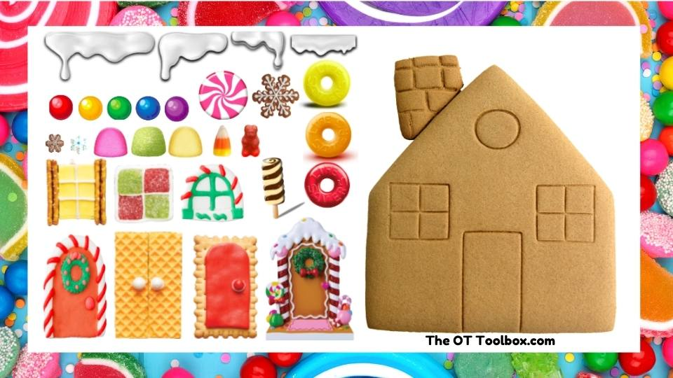 Use this decorate a gingerbread activity in occupational therapy teletherapy sessions.