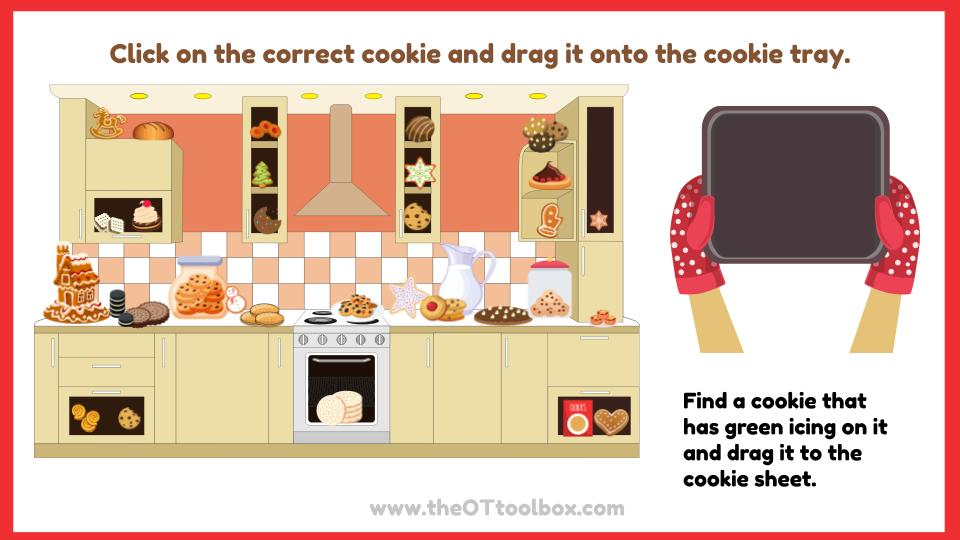 Cookie activities for working on working memory, visual perception, handwriting and more.