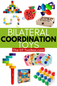 Bilateral coordination toys
