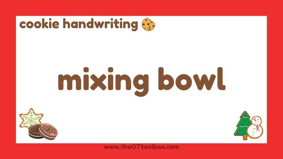 Cookie activity for handwriting with kids.