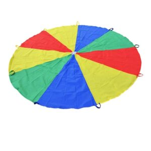 A parachute is a great gross motor toy for kids.