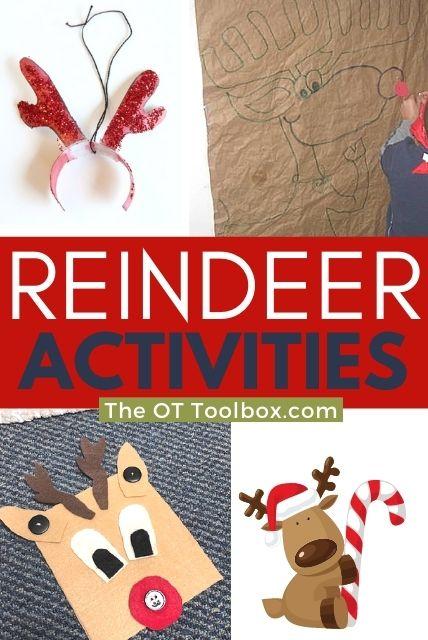 reindeer activities, reindeer crafts, and reindeer art for kids