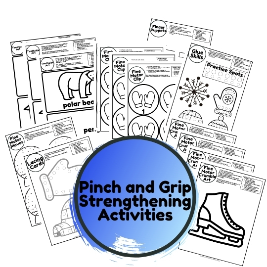 pinch and grip strength activities winter theme