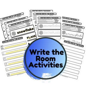 winter write the room activities
