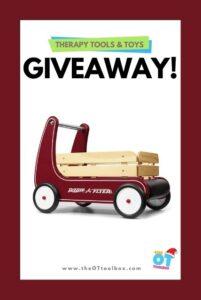 Radio Flyer Wooden Walker Wagon Toy